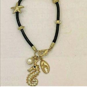 Seahorse Lobster Bracelet Crystal Charm Nautical